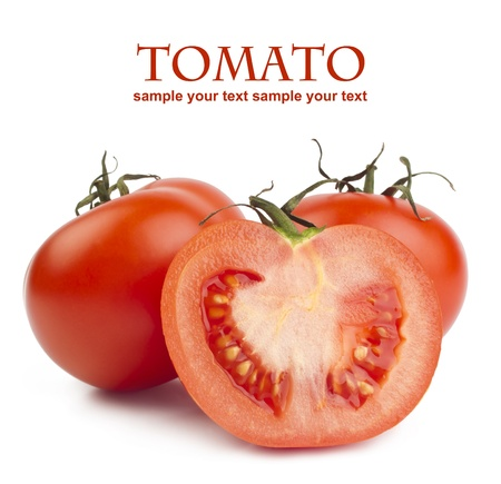 tomatoes isolated on white photo