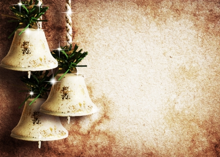 vintage paper textures with bells and stars  photo