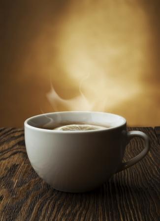 evaporacion: t� caliente con lim�n y evaporaci�n
