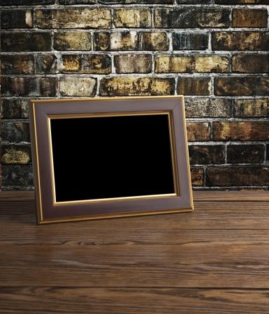 foto frame op oude houten tafel