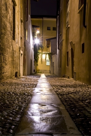 Night Street in the Old Town photo