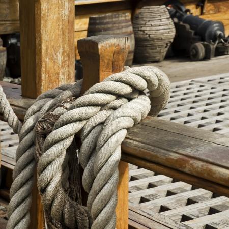 Rigging of sailing vessel photo