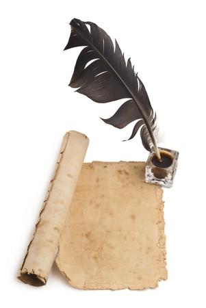 Leeres Papier, Feder Tinte Standard-Bild - 15815751