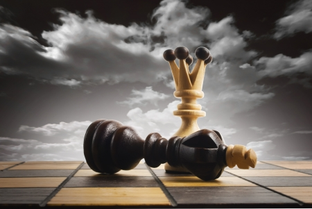 chess pawn: Chess board