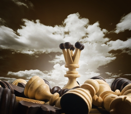 dramatic sky: Chess board