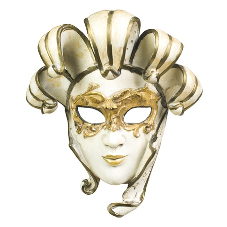 Venice mask on white background  Stock Photo
