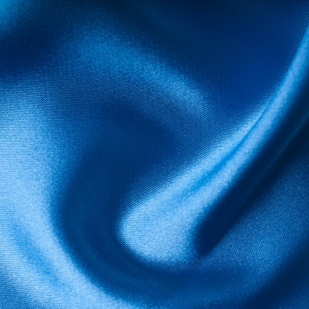 close up of blue silk textured