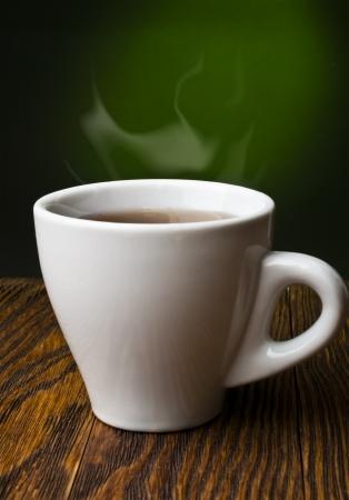 evaporacion: té caliente con limón y evaporación