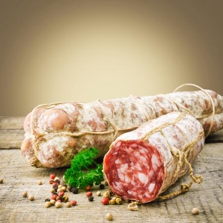 salami sausage: Italian salamiItalian salami