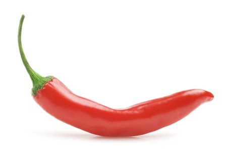 red hot chili pepper isolated on a white background photo