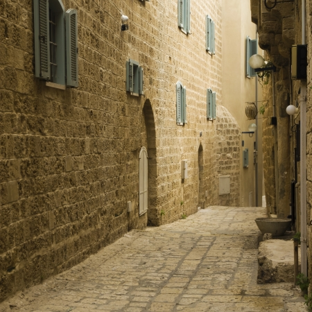 Old Jaffa street, Israel photo
