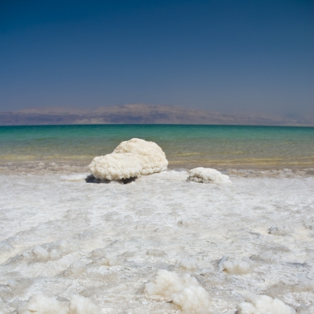 arava: Dead Sea salt natural mineral formation at the Dead Sea, Israel  Stock Photo