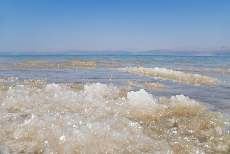 Dead Sea salt natural mineral formation at the Dead Sea, Israel  photo