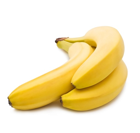 banana skin: bananas on white background Stock Photo