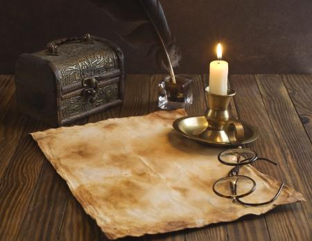 parchment: Vintage letter concept