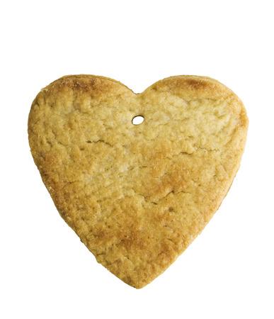 heart shape xmas spice cake isolated on white background photo