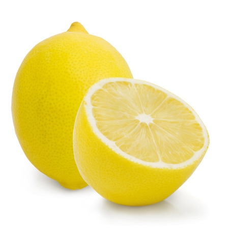 Ripe lemons  Isolated on white background photo