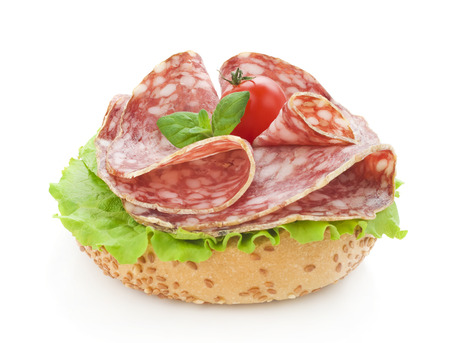 salami and lettuce
