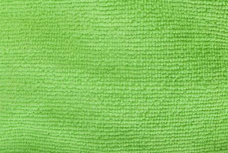 Texture of green microfiber Textiles photo