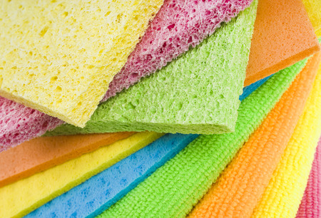 Group of kitchen sponges Stock Photo