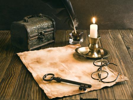 pen holder: Vintage letter concept