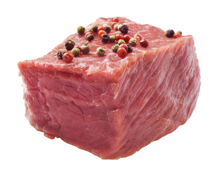 raw steak with pepper photo