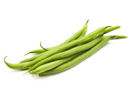 Green beans isolated on a white background photo