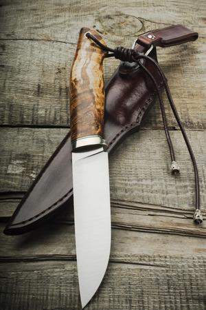 hunting knife Standard-Bild