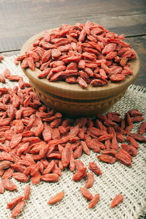 superfruit: dry red goji berries for a healthy diet