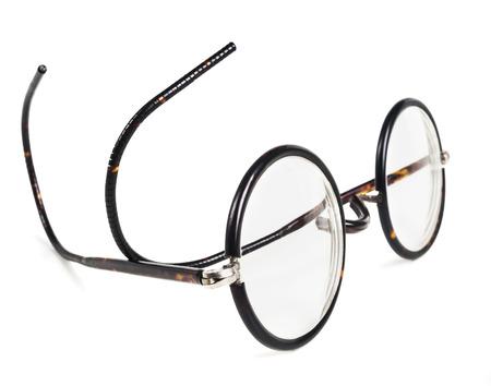 ocular: Isolated retro, vintage glasses on white background