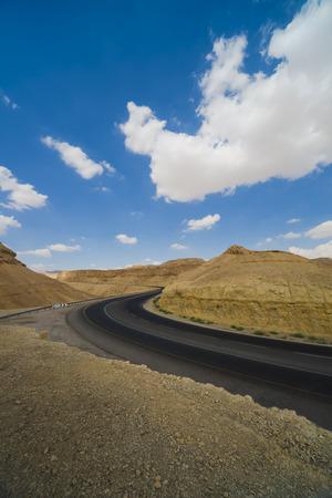 judean desert: Asphalt Road in the Judean Desert