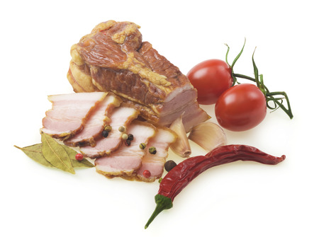 smoked sausage: Smoked sausage with peppercorns