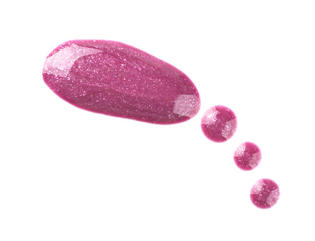gloss: Lip gloss sample isolated on white