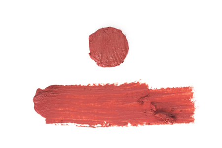smudged: Smudged lipstick texture Stock Photo