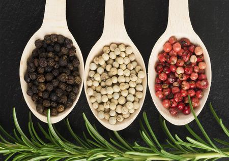 peppertree: pepper in wooden spoon