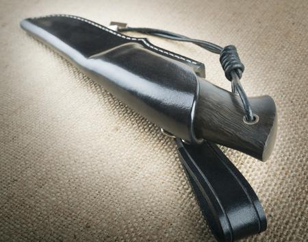 scheide: Jagd-Messer Lizenzfreie Bilder