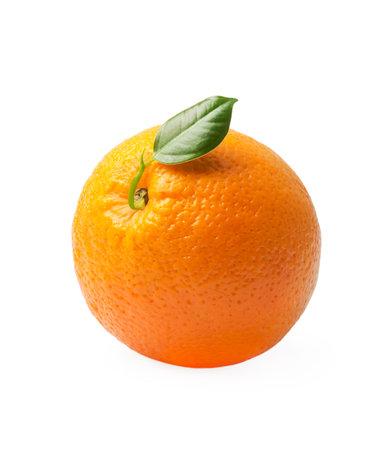 Orange fruit isolated on white Standard-Bild