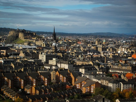 View of Edinburgh on an autumn day Editorial