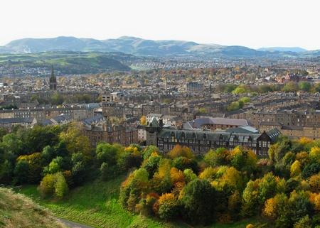 Edinburgh view with the park on a sunny autumn day Stock Photo - 11879246