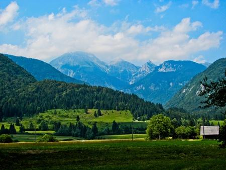 Landscape of Triglav National Park Alps in Slovenia Stock Photo