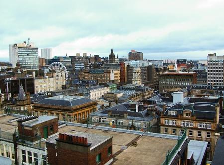 glasgow: Glasgow city skyline on a winter day