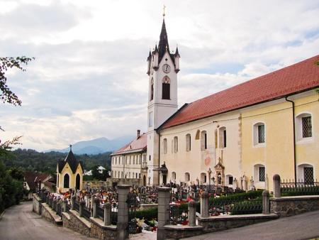 Monastery in the village of Mekinje in Slovenia
