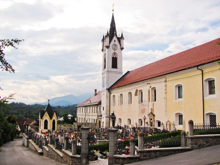 Monastery in the village of Mekinje in Slovenia