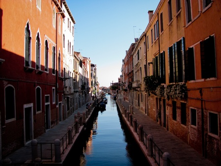A typical water street in Venice, Italy Stock Photo - 12980952