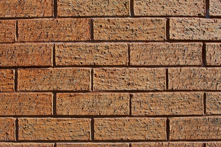 A close-up of a brick wall to use as a background