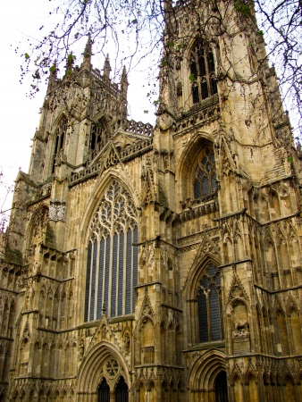 York Minster in Yorkshire on an autumn day