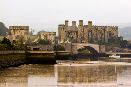 Conwy Castle in Noerthern Wales on a winter day Stock Photo - 16532563
