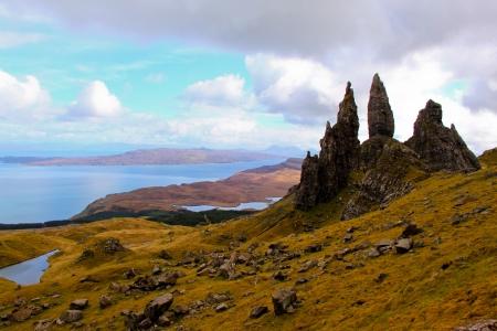 scotland landscape: Old man of Storr Trotternish Peninsula Isle of Skye Scotland  Stock Photo