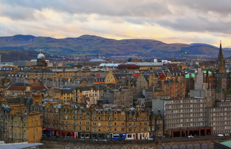 View of Edinburgh on an autumn day Stock Photo - 23271458