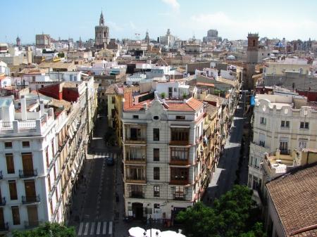Aerial view at Valeca city in Spain
